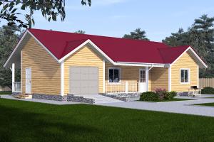 Дом с гаражом 14 на 9_мини