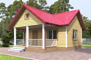 Дачный дом 6х4 с террасой