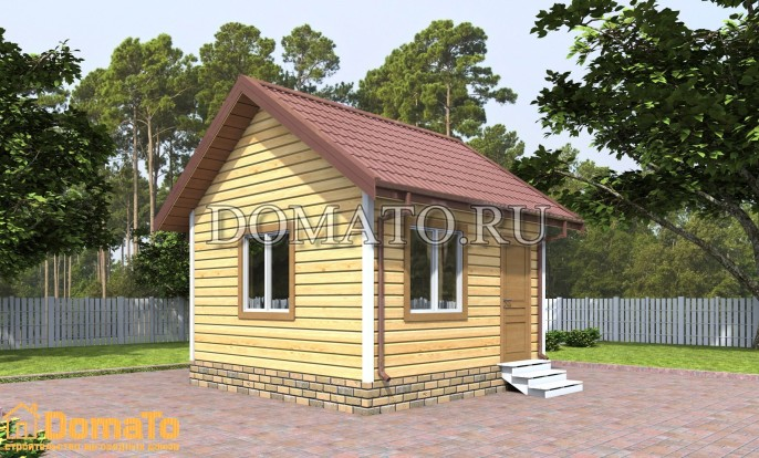 Маденький дачный дом 4 на 4