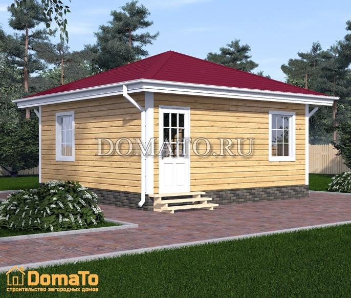 Одноэтажный дачный дом 7х7