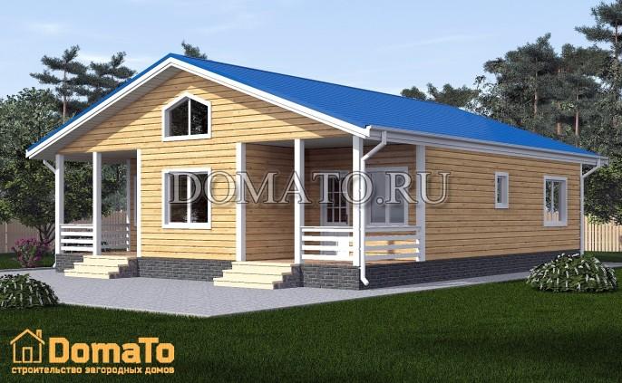 Одноэтажный дом 12х12
