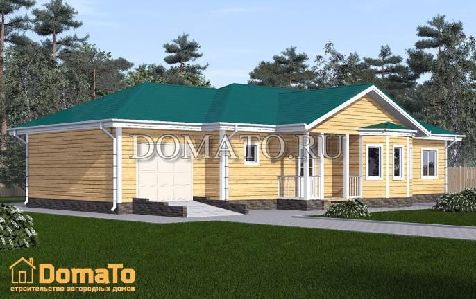 Одноэтажный дом 18 на 12