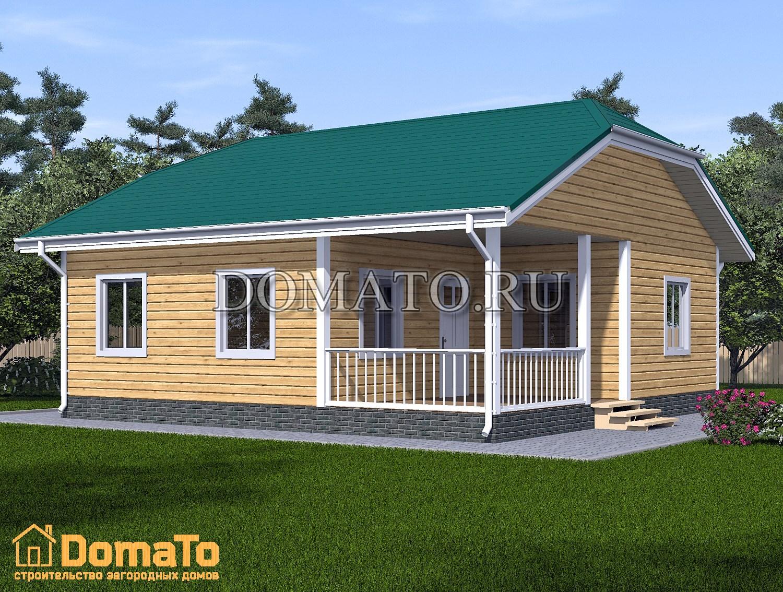 Одноэтажный дом 9х9