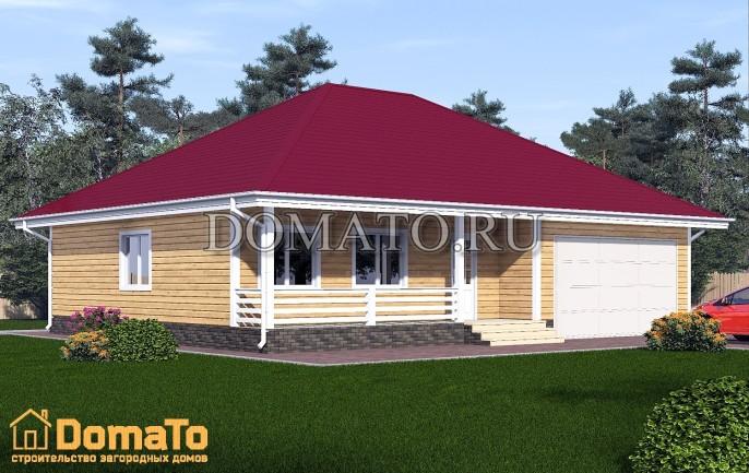 Одноэтажный дом с гаражом на два места