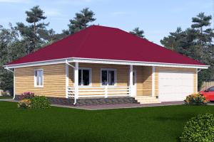 Одноэтажный дом с гаражом на два места_мини