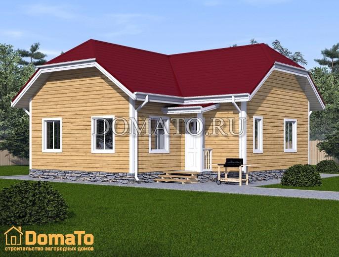 Одноэтажный  дом загородный 9х9