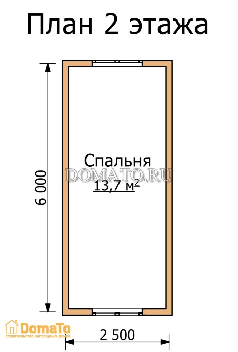 План 2 этажа дома с мансардой 6 на 3
