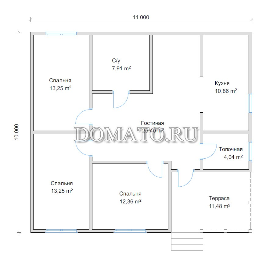 План дома 11 на 10