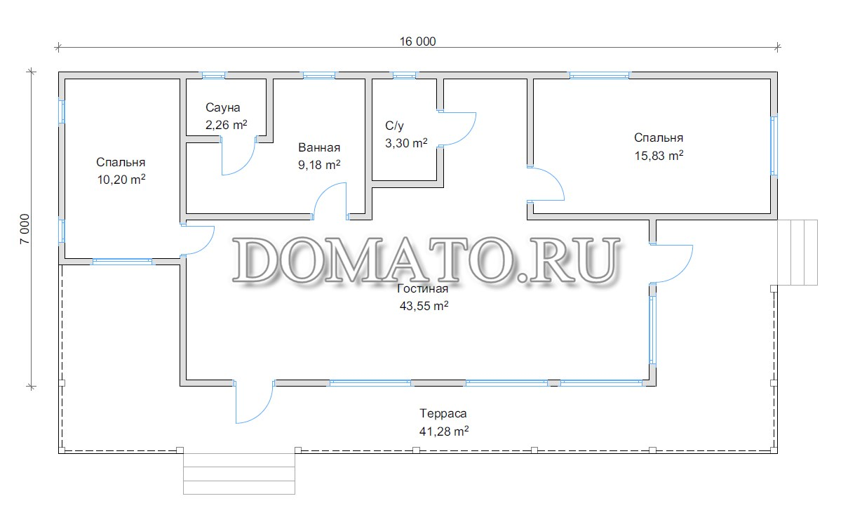 План дома 7 на 16