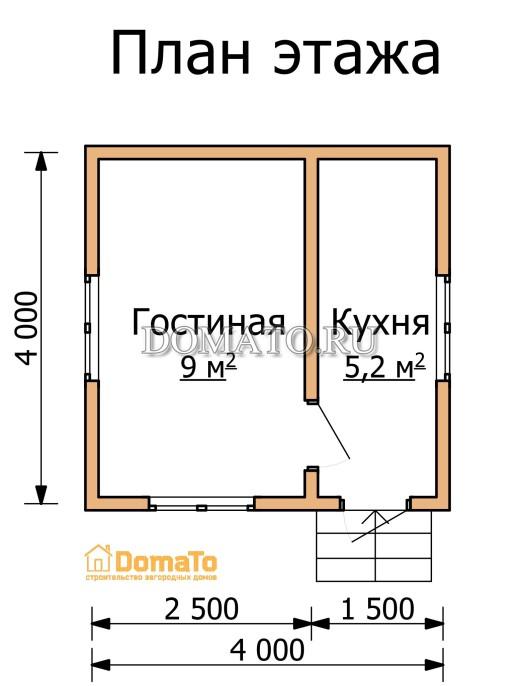 План  этажа 4 на 4