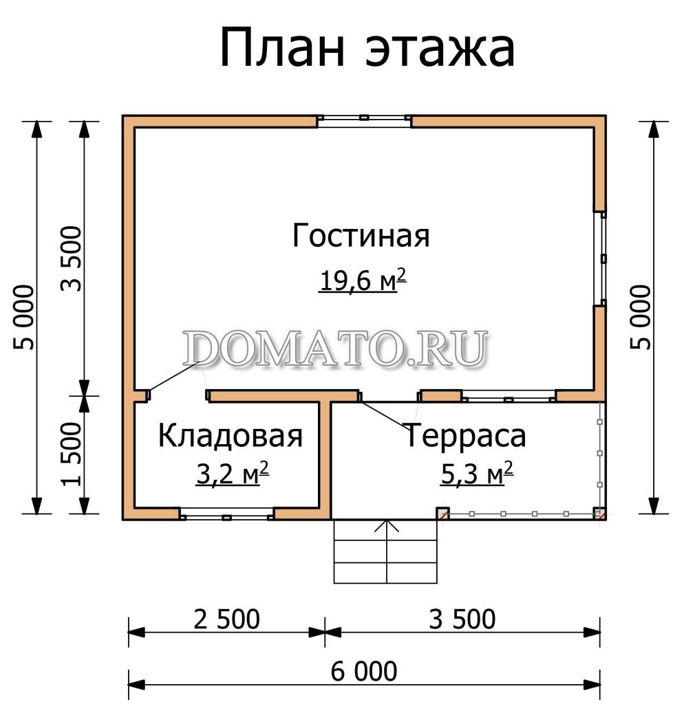План этажа 6 на 5