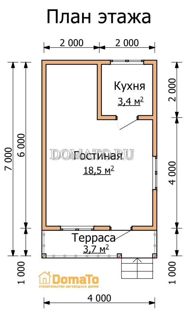 План этажа 7 на 4
