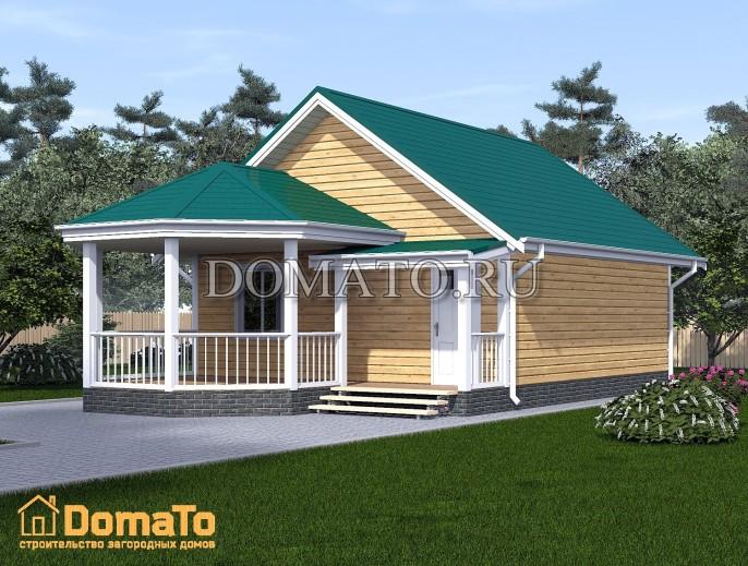 Проект дома 7х7,5 с террасой