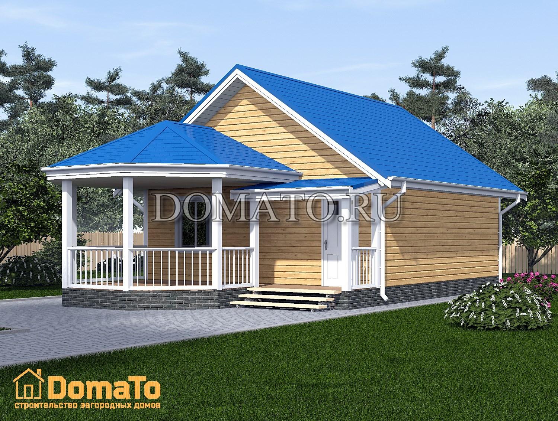 Проект дома 8х8 с террасой