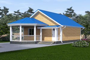 Проект дома 8х8 с террасой_мини