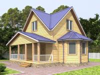 Дом 7×6 с террасой и эркером