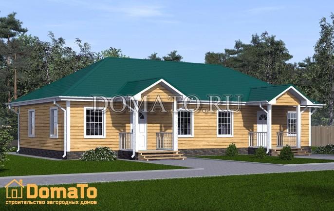 Проект дома на двух хозяев 16х8
