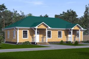 Проект дома на двух хозяев 16х8_мини