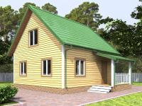 Дом 6х6 с мансардой с планировкой