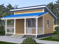 Дом одноэтажный 6х6 финский
