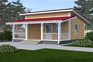 Дом одноэтажный садовый 6х8
