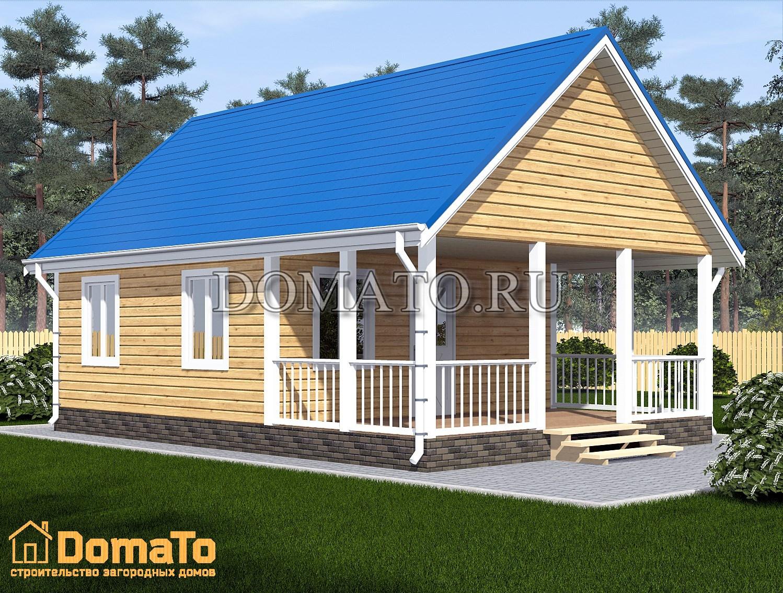 дом одноэтажный дачный дом 6 на 8