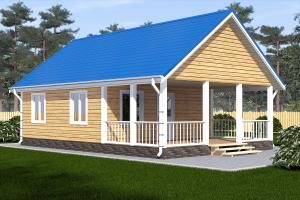 проект одноэтажного дома 6х8