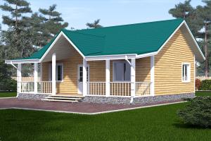 проект одноэтажного дома 9х9 из бруса