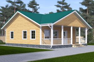 проект одноэтажного дома 8х11