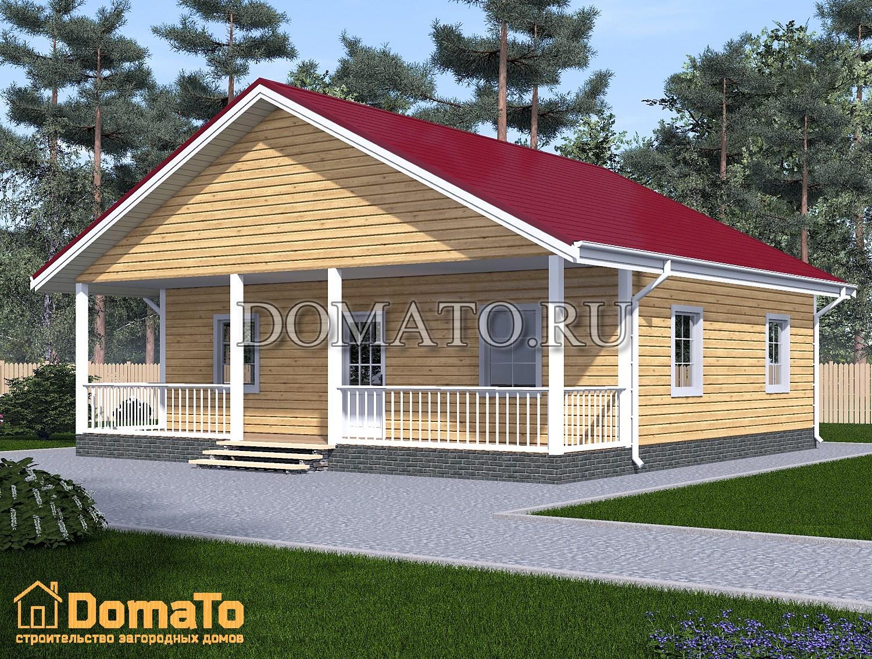 Одноэтажный дом 10х10