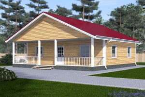 проект одноэтажного дома 10х10