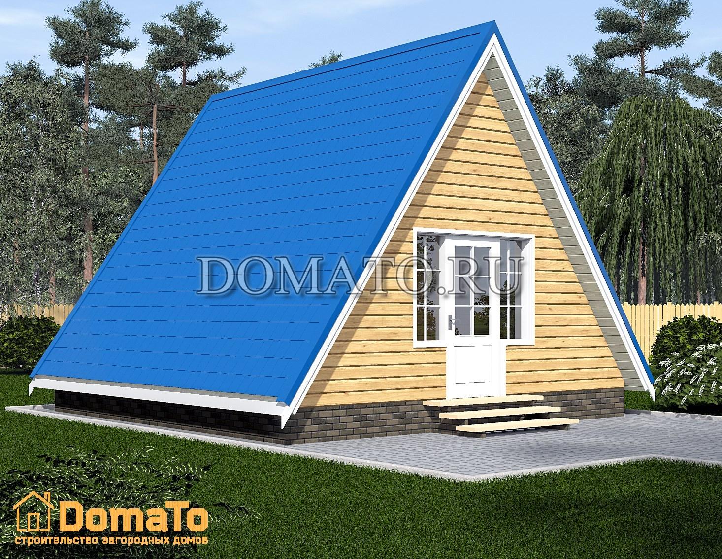 дом треуголник