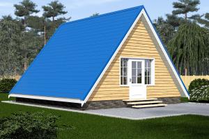 дом треугольник 6х4