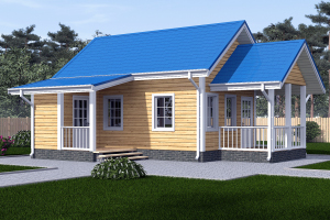 проект садового домика 6 на 4
