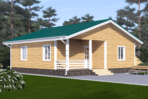 Дом одноэтажный 9х9 Проект ОД№7 Цена: 000.000 рублей