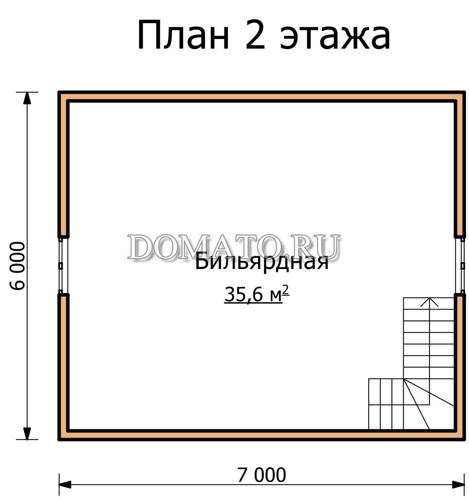 план 2 этажа ДБ12