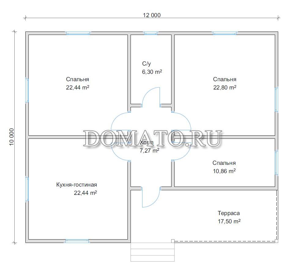 план дома 10х12