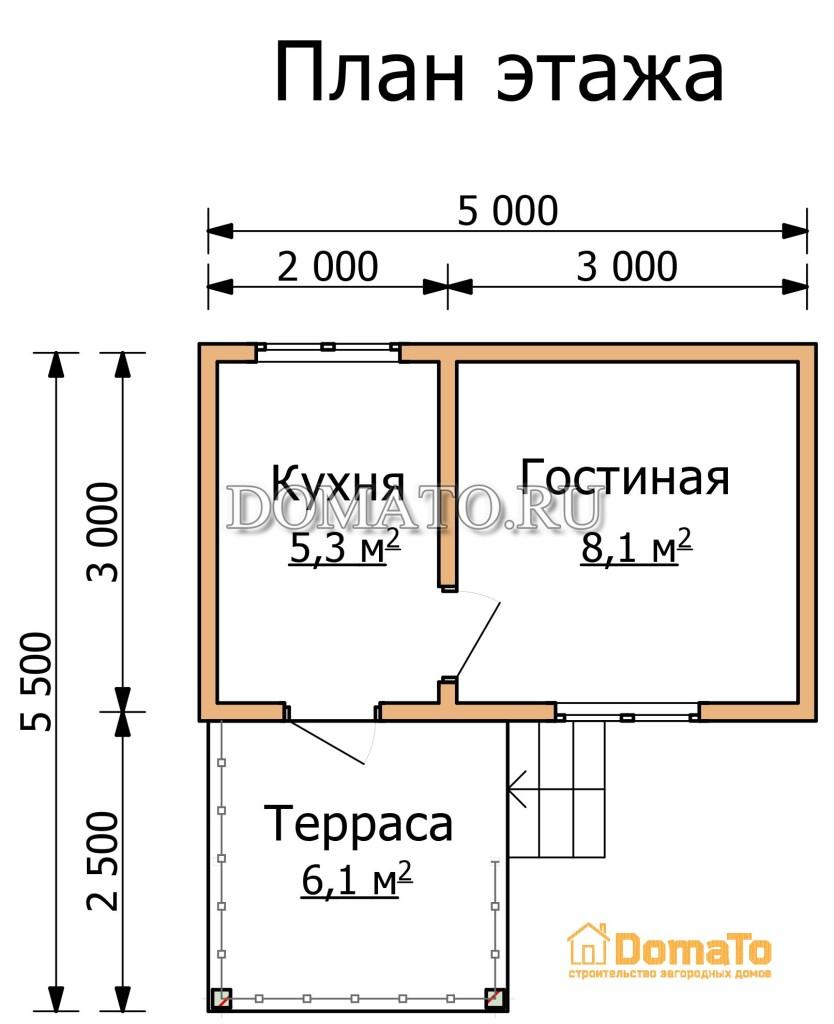 план этажа 5 на 3