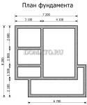 план фундамента бани 7 на 8