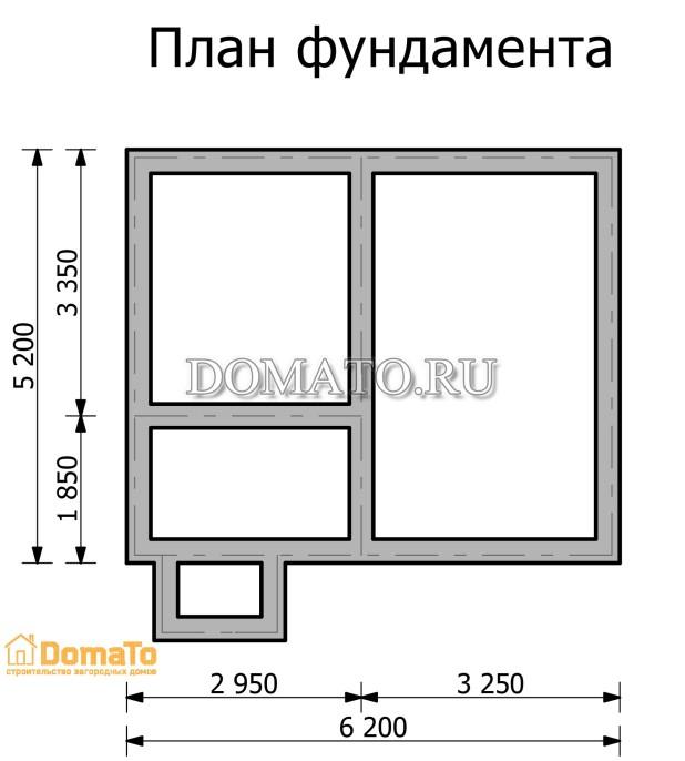 план фундамента дома  5 на 6