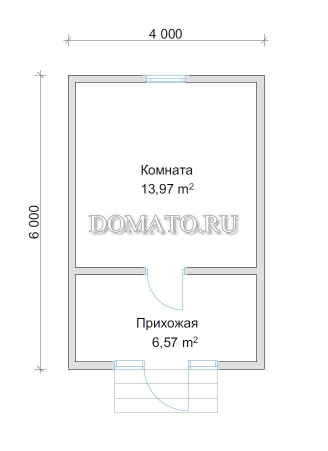 треугольник план дома