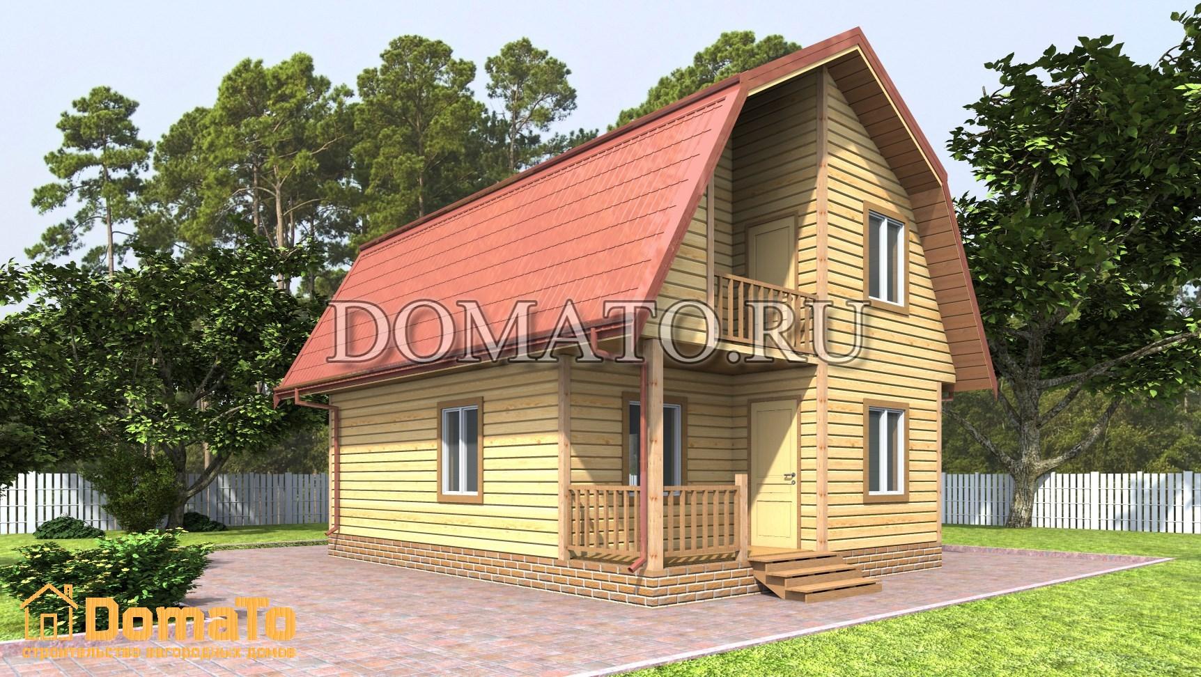 Деревянный домик 6 на 6