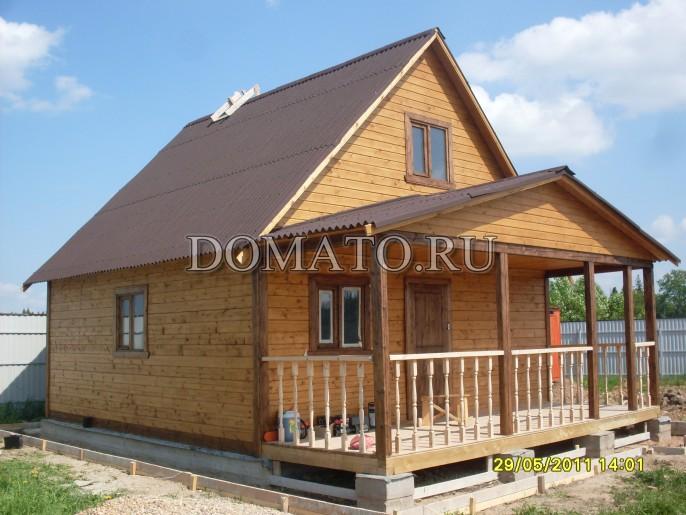 Проект пристроя террасы к дому из бруса