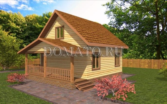 Проект дома с террасой по фасаду